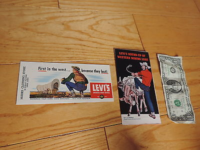 1950s Levi Strauss Overalls Advertising Blotter brochure Old western mini lore