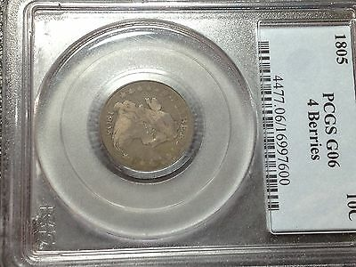 1805 PCGS G-6  Bust Dime Large Eagle    Looks F+