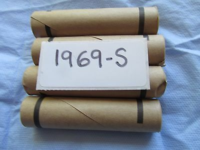 1969 S Obw Original Bank Wrapped Roll Bu Uncirculated Lincoln  Cent Pennies