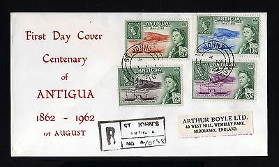 15873-ANTIGUA-FIRST DAY REGISTERED COVER ST.JOHN´S to ENGLAND.1962.British