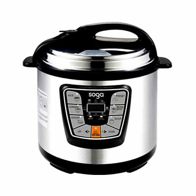 NEW Stainless Steel Electric Pressure Cooker 8L NonStick 1000W 12 MONTH WARRANTY
