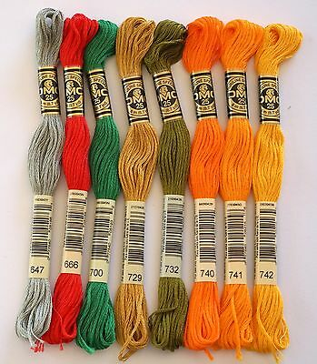 DMC Embroidery Threads - Stranded Cottons - Choice 647 666