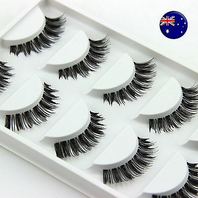 5Pairs Natural look Long Extension Thick Fake False Eyelashes eye lashes HW-10