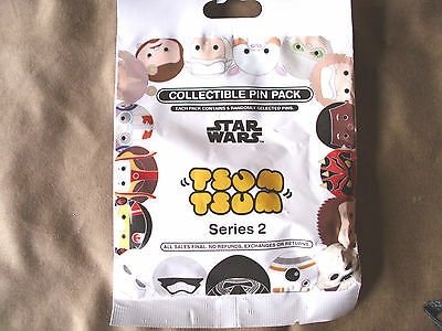 Disney* TSUM TSUM * Star Wars Series #2 * NEW 5-pin Collectible Mystery Pin Pack