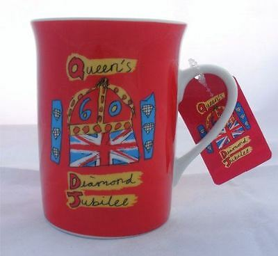 Diamond Jubilee Ceramic Red Mug with Coaster Set