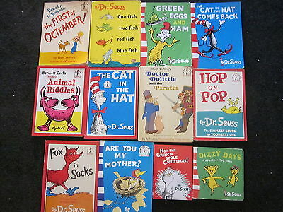 12 x Bulk Lot of DR SEUSS Books Some VINTAGE Mix HC & SC Great Beginner Readers