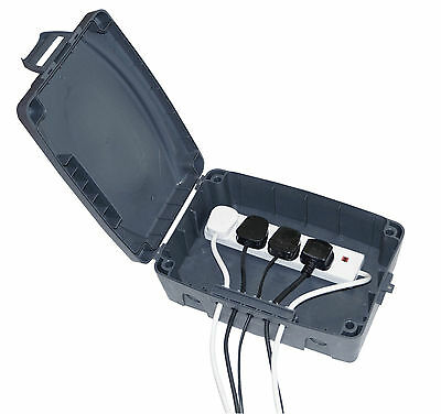 Outdoor Waterproof Masterplug Electrical Connection Box & 4 Gang Extension Lead
