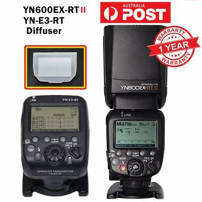 Yongnuo YN600EX-RT II Speedlite Flash Light & YN-E3-RT Transmitter for Canon AU