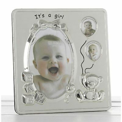 Its A Girl Photo Frame Hold 3 Picture Baby Shower Birthday Christening Gifts