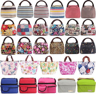 Portable Bento Lunch Box Bag Insulated Thermal Waterproof Picnic Carry Tote