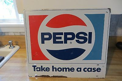 Pepsi soda pop advertising Take home a Case,store  display sign