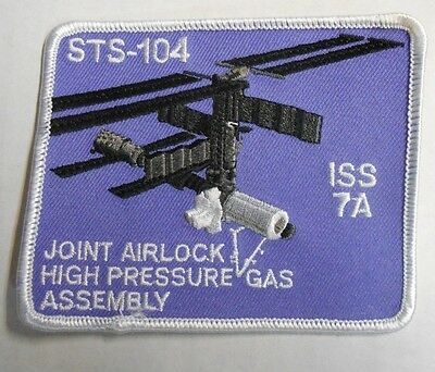 "NASA STS-104 ISS 7A Columbia Space Shuttle Mission Embroidered Patch 4"" NEW"