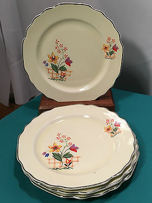 W.S. George Bread & Butters Plates (s/4) Lido Canarytone