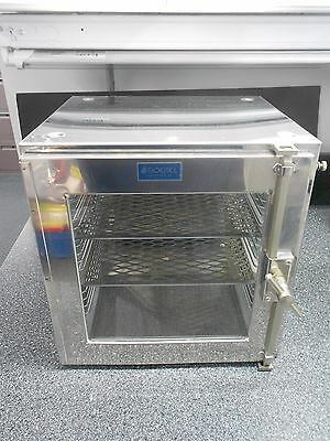 Boekel Stainless Steel & Glass Bench Top Desiccant Cabinet With 2 Shelves