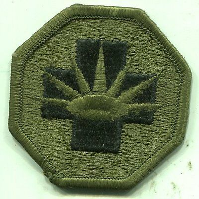 US Army OD Subdued 8th Medical Brigade Patch
