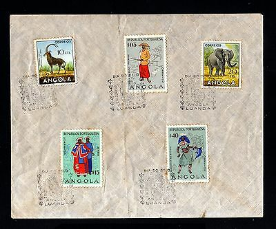 15015-ANGOLA-FIRST DAY COVER LUANDA.1957.Portugal colonies.Dia do selo.
