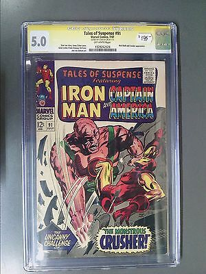 CGC 5.0 Signature Series Tales of Suspense #91 Autographed by Stan Lee!