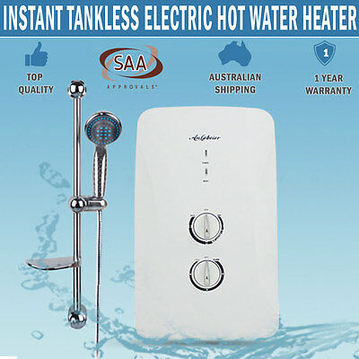 NEW Instant HWS Electric Hot Water Heater Bathroom Shower Tankless System