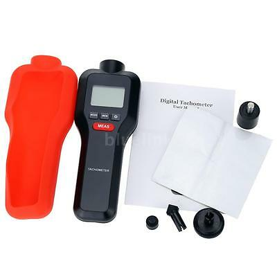HT-522 Handheld Non-contact & Contact Digital Laser Tachometer Tach RPM Tester