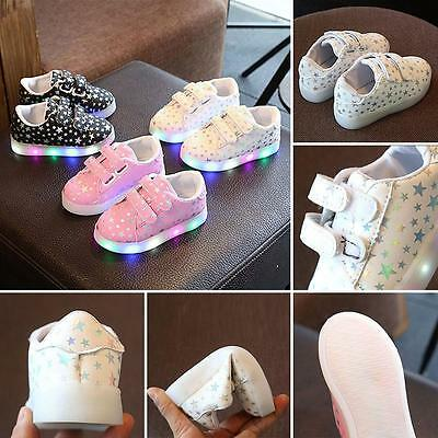 Baby Toddler Boys girls Kids Luminous Sneakers Light Up Shoes LED Shoes NNA