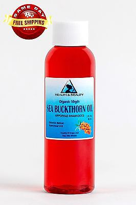 Sea Buckthorn Oil Unrefined Organic Extra Virgin Co2 Extracted Premium Pure 2 Oz