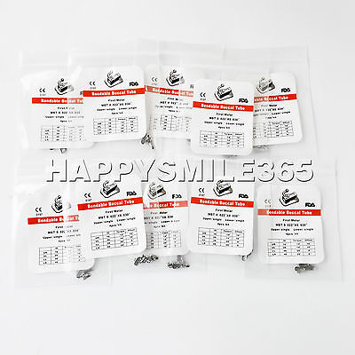 "10X Dental Orthodontic Buccal Tube 1st Molar Bondable MBT 022"" Non-Convertible"