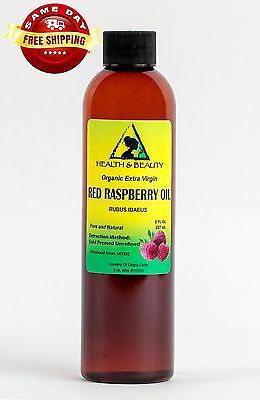 Red Raspberry Seed Oil Unrefined Organic Extra Virgin Cold Pressed Pure 8 Oz