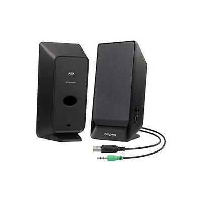 Creative Labs 51MF1675AA002 Creative A50 USB-powered 2.0 Speakers Black Retail