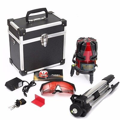 8 line Rotary Laser Beam Self Leveling Interior Exterior Kit  + Tripod warranty