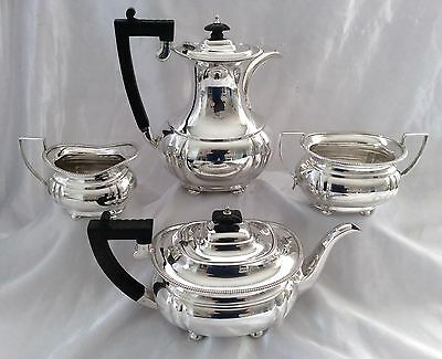 Fine Antique Victorian 4pc Silver Plated Tea Set JB Chatterley Birmingham C.1895