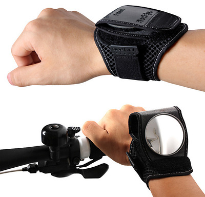 Wrist Guards Wristbands Back Eye Mirror Cycling Bicycle Bike Rearview Mirror