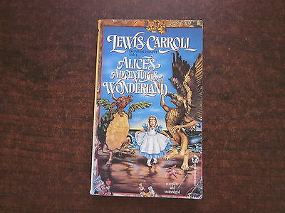ALICE IN WONDERLAND by  Lewis Carroll 1988 Paperback Book ALICE'S ADVENTURES