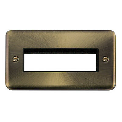 Click Deco Plus 2 Gang Plate - 6 In-Line Apertures
