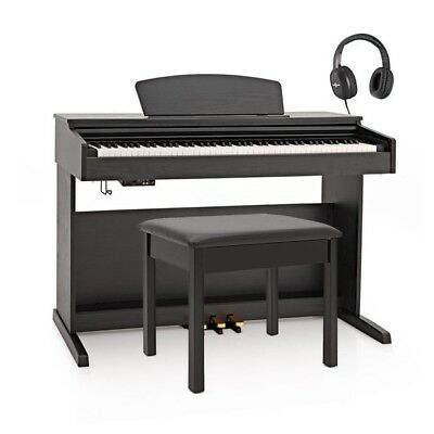DP-10X Digital Piano by Gear4music + Piano Stool Pack Matte Black