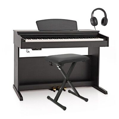 DP-10X Digital Piano by Gear4music + Accessory Pack Matte Black