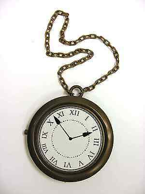 Flavor Flava Flav White Rabbits Rapper Gangster Clock Necklace Costume Accessory