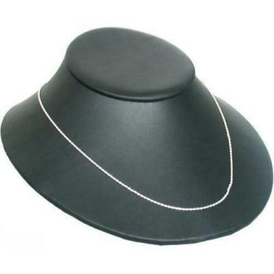 Black Faux Leather Necklace Bust Display