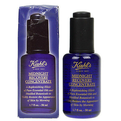 Kiehl's Midnight Recovery Concentrate 50ml Overnight Face Oil | Damaged Box