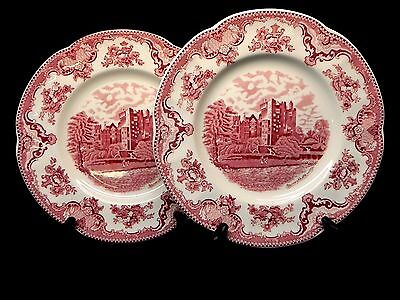 """Johnson Brothers Old Britain Castles Pink (set of 2) 10"""" Dinner Plates"""