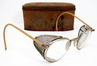 Vintage Rare Steampunk Ful-Vue 23 Industrial Safety Goggles Sun Glasses