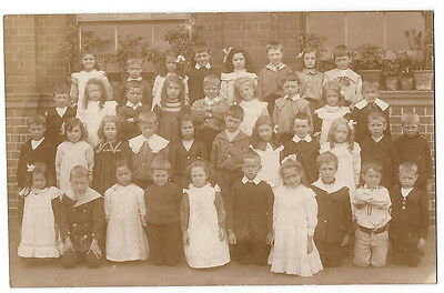 Class of Edwardian School Children RP Postcard, Unused