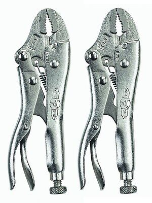 "Irwin Vise-Grip 4WR (1002L3) The Original 4"" Curved Jaw Locking Pliers (2 Pack)"