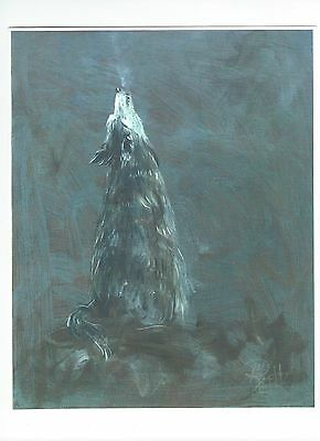 CALL OF THE WILD 8x10 wolf art print  wildlife  Jim Smeltz w/ ACEO