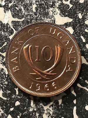 1966 Uganda 10 Cents Lot#5338 Proof!