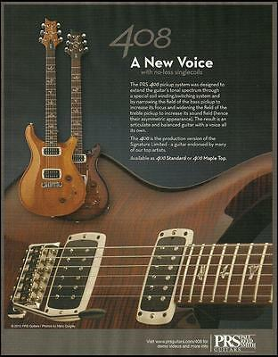 The PRS 408 Series Standard & Mapel Top guitar ad 8 x 11 advertisement print