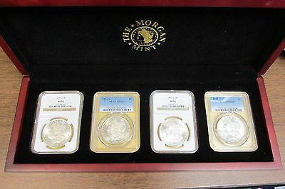 Deluxe Morgan Silver Dollar Set from 4 Mints P D O CC Certified MS PCGS NGC