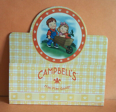 Campbell's Kids Collectible Kitchen Magnet - Boy & Girl in Wheelbarrow w/Tomato