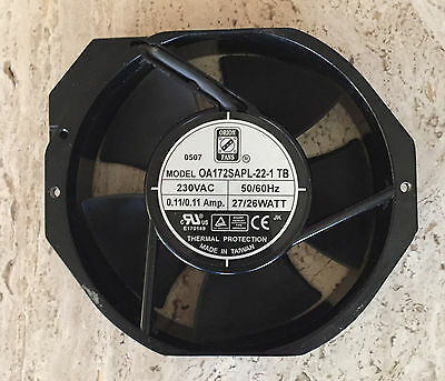 """Orion 0A172SAPL-22-1 TB 6"""" Rotary AC Cooling Fan 230VAC 50/60Hz 0.11A, 27/26W"""