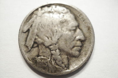 1915   'vf'  Five Cent Buffalo Nickel Very Nice L@@k No Reserve