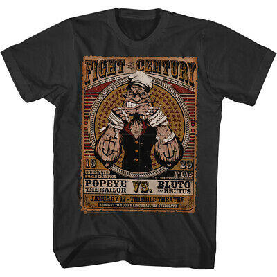 c25e14bd09 Popeye Sailor Man Comic Spinach Fight Century Energy Funny Cartoon T-Shirt  Tee